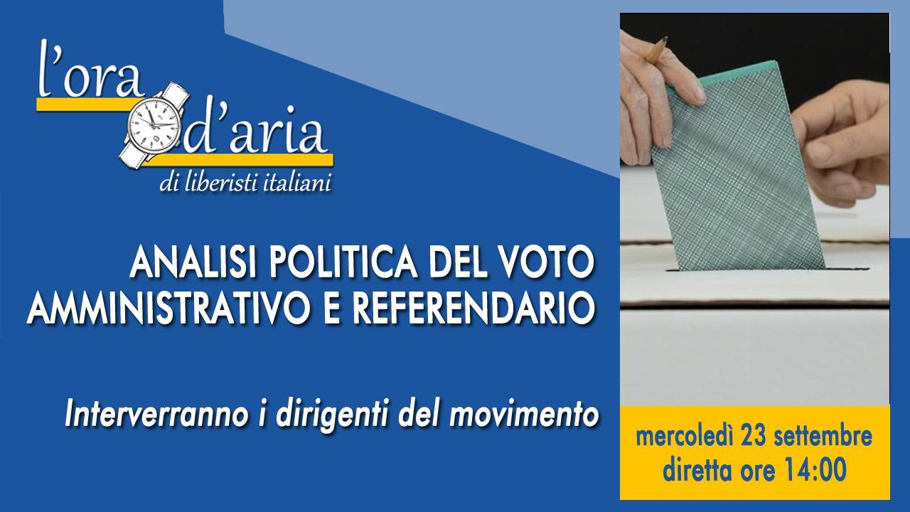 Analisi politica del voto amministrativo e referendario
