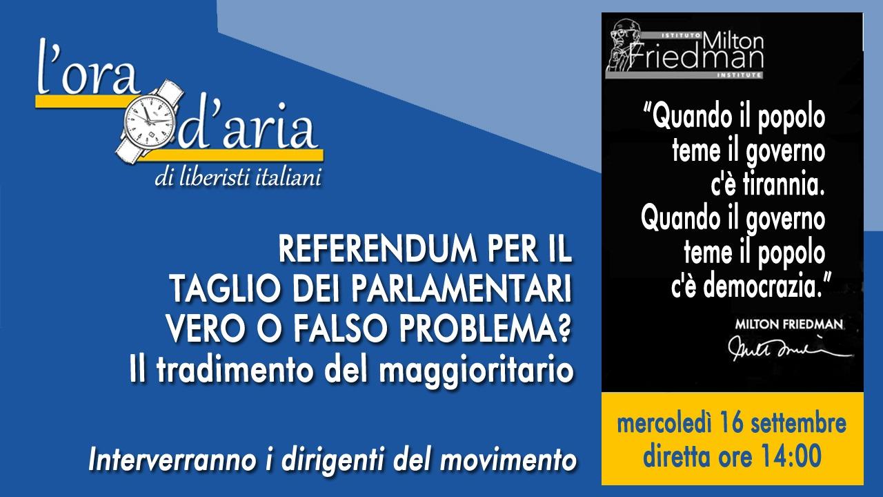 Referendum per il taglio dei parlamentari, vero o falso problema? Il tradimento del maggioritario
